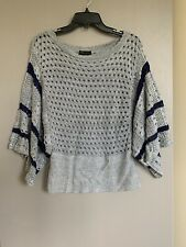 Yarn Art Womens Sweater M Size Multicolored Gray
