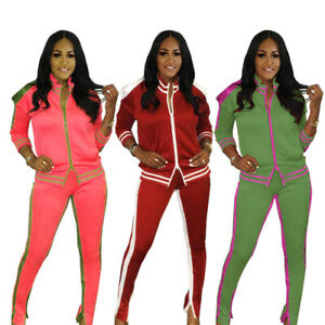HOT SALE Women Color Block Patchwork Buttons Long Sleeve Casual Sport Outfits
