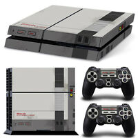 Ps4 Playstation 4 Console Skin Decal Sticker Old NES Retro Custom Design Set