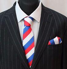 Tie Neck tie with Handkerchief Red White & Blue LUC13