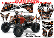 AMR Racing DECORO GRAPHIC KIT ATV KTM 450 505 525 SX XC SILVERSTAR silverhaze B