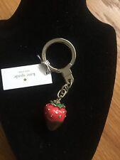 Kate Spade Chocolate Dipped Strawberry Key Fob Key Chain Bag Charm - NWT