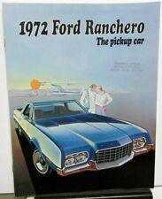 1972 FORD FAIRLANE TORINO RANCHERO OWNER MANUAL 72 WARRANTY FOLDER