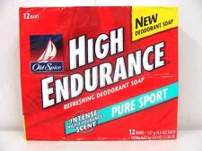 OLD SPICE HIGH ENDURANCE SOAP PURE SPORT 12 BAR PACK *ORIGINAL FORMULA*