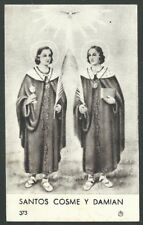 Holy card antique de San Cosme y Damian santino image pieuse estampa