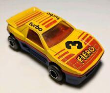 VINTAGE MAJORETTE #206 PONTIAC FIERO Yellow #3 Turbo 1/55 Diecast MADE IN FRANCE