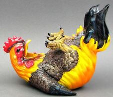 """Colorful Resin Happy Feet Rooster Wine Holder Sculpture Figurine Decor 11x8.5"""""""