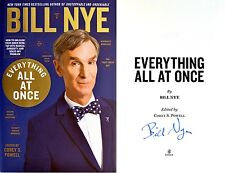 Bill Nye~SIGNED IN PERSON~Everything All At Once~1st/1st+Photos! NOT TIPPED-IN!
