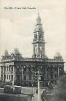 VINTAGE TOWN HALL DUNEDIN NEW ZEALAND POSTCARD - UNUSED