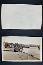 France, Le Havre, Panorama du port Vintage cdv albumen print, CDV, tirage albu