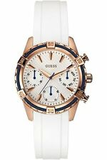 Brand New Guess W0562L1 White Rubber strap women's multifunction watch