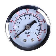 "Air Compressor Hydraulic Pressure Gauge 1.5""Face Back Mount 1/8"" NPT 160PSI E0Xc"