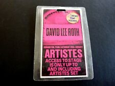 David Lee Roth Monsters Rock 1988 Band Tour Issued Used Backstage Pass Laminate