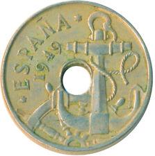 COIN / SPAIN / 50 CENTIMOS 1949     #WT6389