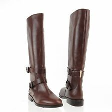 Womens Sarah Jessica Parker Kelly Brown Leather Knee High Boots Sz 36 NEW! $595