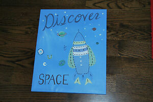 Pottery Barn Kids Space Wall Art Space Blue ~ Excellent condition ~
