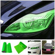 100cm x 30cm Car SUV Headlight Gloss Green Vinyl Wrap Film Overlay Decal Sticker