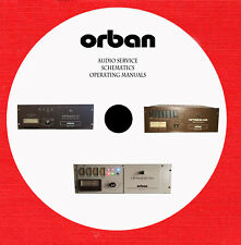 Orban Audio Repair Service owner manuals on 1 CD in pdf format