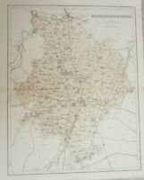A vintage map of Huntingdonshire