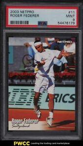 2003 Netpro Tennis Roger Federer ROOKIE RC #11 PSA 9 MINT