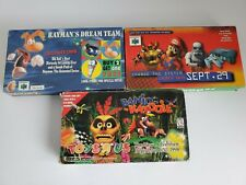 Lot of 3 Nintendo 64 Pre-Release VHS Tapes N64 System-Banjo Kazooie, Rayman  !