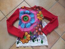 Sweet DESIGUAL blanc et rouge motif fleur taille 7/8 ans TBE