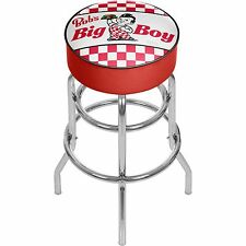 Bobs Big Boy Checkered Padded Swivel Bar Stool
