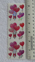 Sandylion HEART SHAPED BALLOONS - Strip PRISMATIC VINTAGE Retired Stickers'