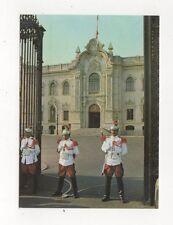Guardias del Regimento Escolta Palacio da Gobierno Lima Peru Postcard 781a