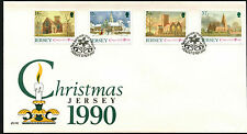 Jersey 1990 Christmas FDC First Day Cover #C42282