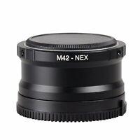 M42 Lens to Sony E NEX 3 NEX 5 NEX 6 NEX 7 VG10 5N 5C Adapter +rear & body cap