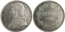 VATICAN  ,  PIE  IX  ,  SCUDO  ARGENT  1853  AN  VIII  ROME
