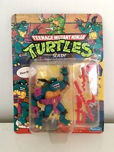 Teenage Mutant Ninja Turtles Slash MOC UNPUNCHED Vintage TMNT MISB BNIB