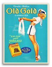 1939 Petty Girl Poster - Old Gold Cigarettes Sailor Girl PinUp Poster - 18x24