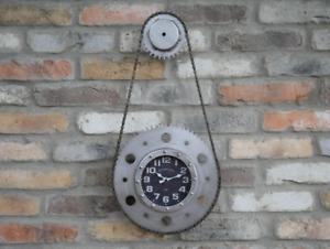 Bike Chain Cog Clock Industrial Metal Cog Gear Wall Clock Urban Vintage Art