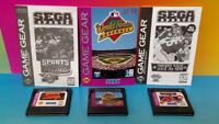 NFL Football 95, Sports Trivia, World Series - Sega Game Gear Portable Cartridge