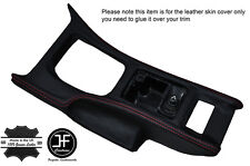 RED STITCH CONSOLE GEAR SURROUND LEATHER COVER FITS NISSAN 300ZX Z32 1990-1996