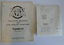 Target Alpha 1976 Gottlieb Pinball Machine Original Manual And Schematic Diagram