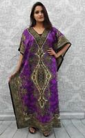 Long Kaftans,dress Boho Maxi Plus Size Womens Caftan Top Dress Night Gown Purple