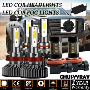 For Nissan Titan 2016-2018 9005+H11 LED Hi/Low Beam Headlight+H11 Foglights 6Pcs