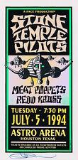 Mint & Signed Stone Temple Pilots 1994 Houston Astro Arena Arminski Handbill