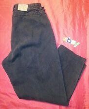 VINTAGE Womens denim Jeans size 32X26 LEE at waist side elastic stretch black