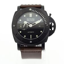 Parnis Marina Militare 45mm Automatic Sub Pam Style Watch NEW Seagull 2555 PVD