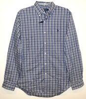 Polo Ralph Lauren Mens Blue Beige Plaid Button-Front Shirt NWT Size M