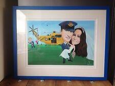 Prince William & Kate Middleton LIMITED EDITION impresión firmada Deborah Kempton 250