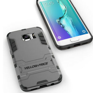 For Galaxy S7 Edge Rugged Armor Defender Protective Cover Case with Kickstand