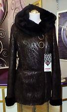 Luxus Designe Damen echte Lammfelljacke  mit  Kapuze  Gr 44/46 NEU