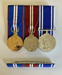 Full Size Police LS&GC, Golden & Diamond Jubilee Medals Full Size & Ribbon Bar