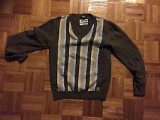 D&G Men's V-Neck Wool/Cashmere Blend Sweater - S