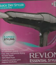 Revlon Essential Styler 3-Speed Hair Dryer Black